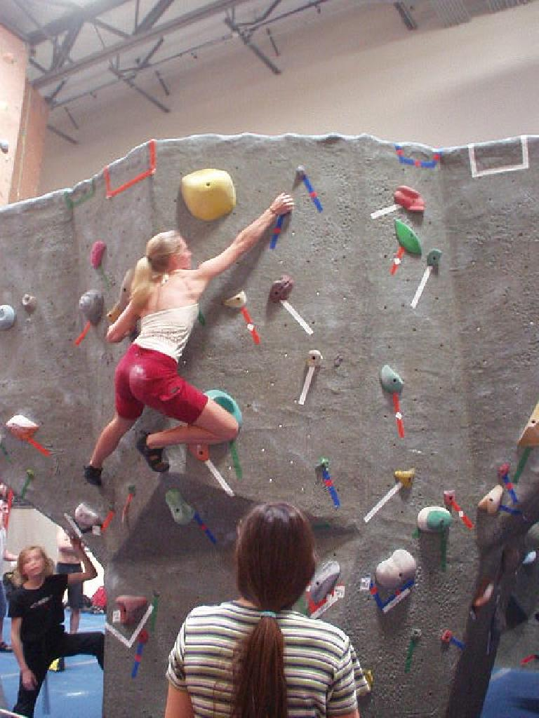 Ashley showing how it's done on a good boulder problem.