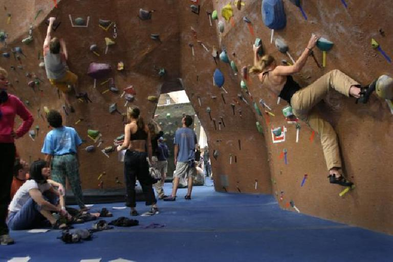 Here's Ashley on the wall, and Heidi can be seen in here too. Photo: CityBeach.com.