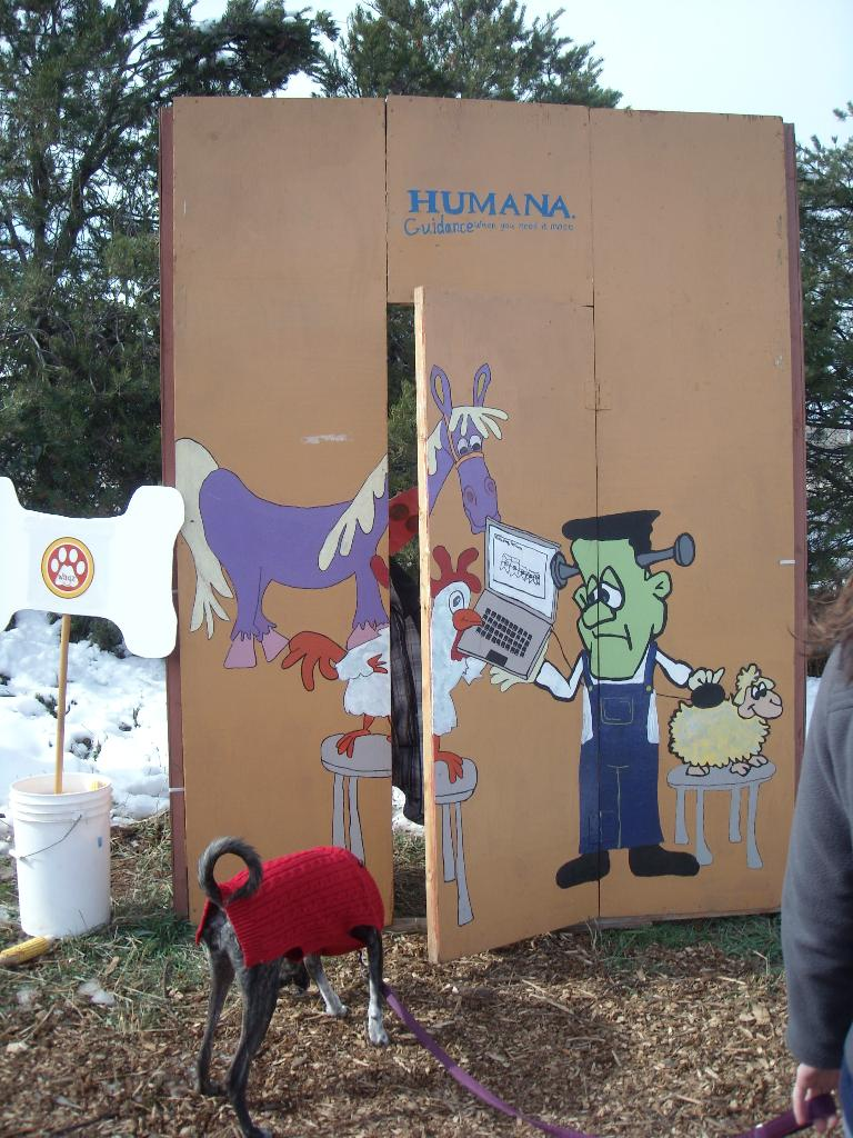 The Humana booth.