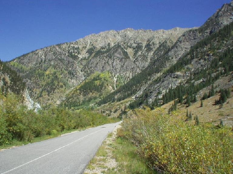 A view of some of the immediate mountains ahead.