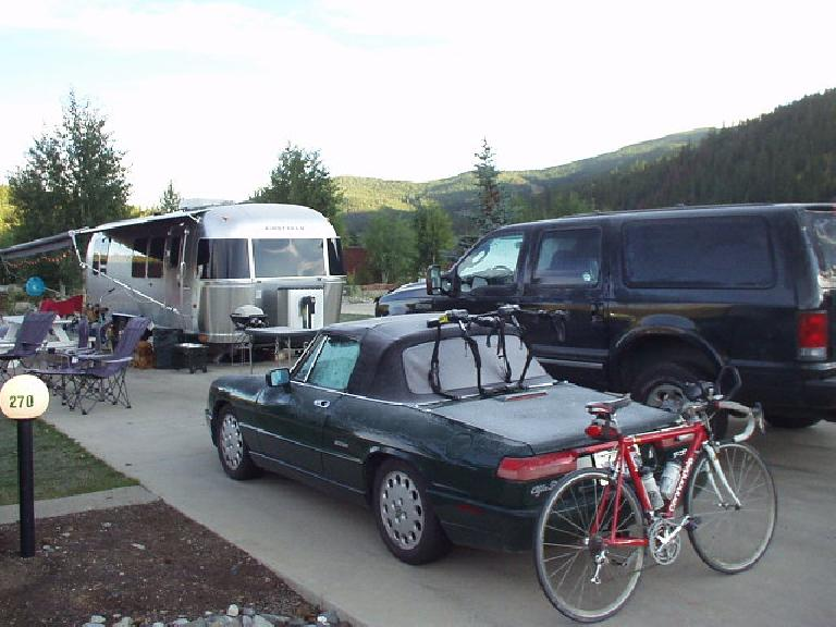 I arrived here on the first day in the last few months that the temperature dipped below freezing overnight, so there was frost and ice all over my car.  It quickly had melted by 8:30 am in the Colorado sun.
