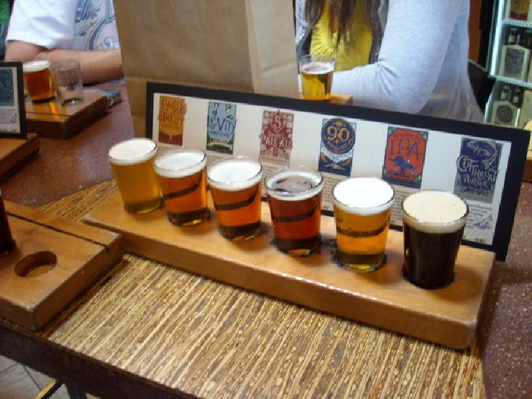 Rob & Tori and Lisa & I got large & small samplers.  Here is the large sampler. Photo: Lisa.