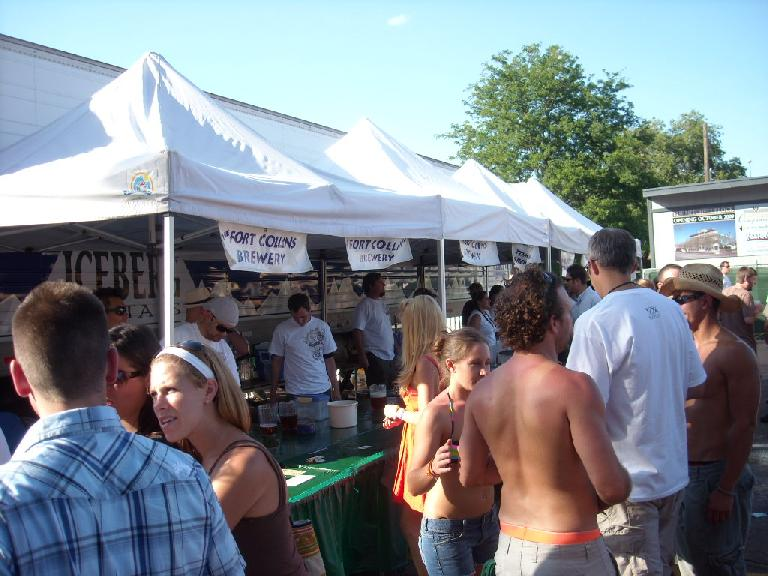 Some of the beer booths.
