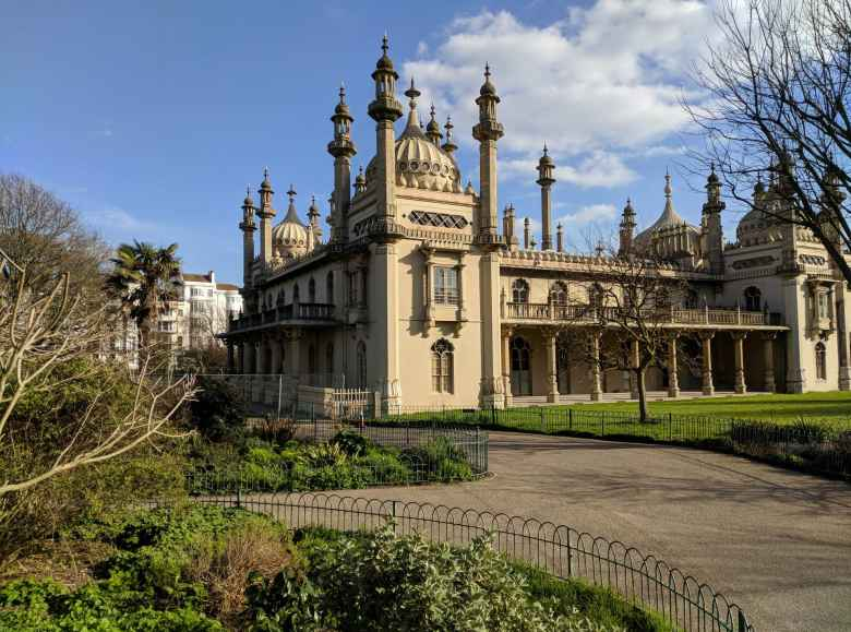The Royal Pavilion in Brighton and Cove.