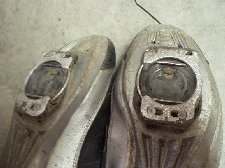 My Speedplay cleats--which I have never replaced since I got them in 1999 (also ~12,000 miles?) were not in great shape anymore either, though they still worked fine.  (And lasted about 4X longer than the plastic cleats for my previous Sampson Stratics. (May 24, 2004)