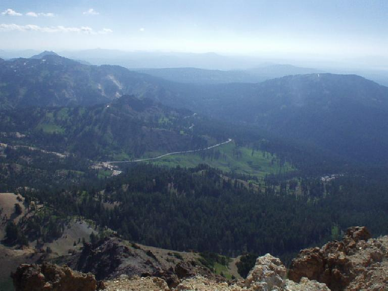 The southeast view from the top of Brokeoff Mountain.