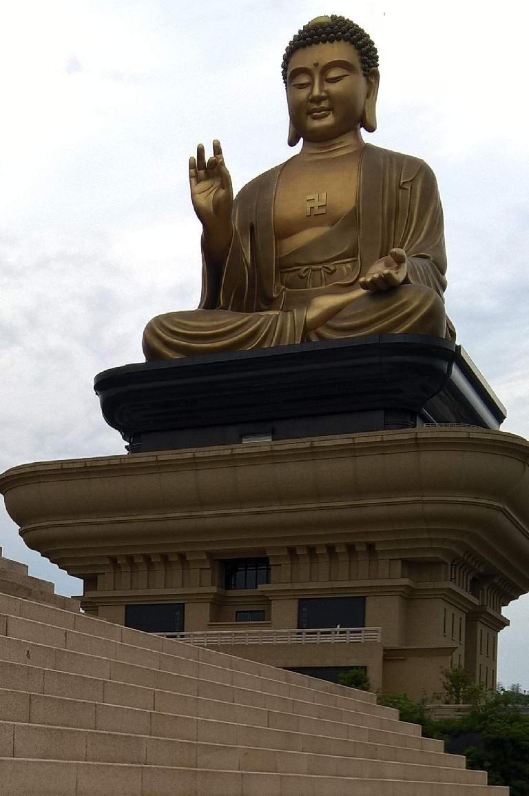 Giant Buddha at the Buddha Memorial Center in Taiwan.