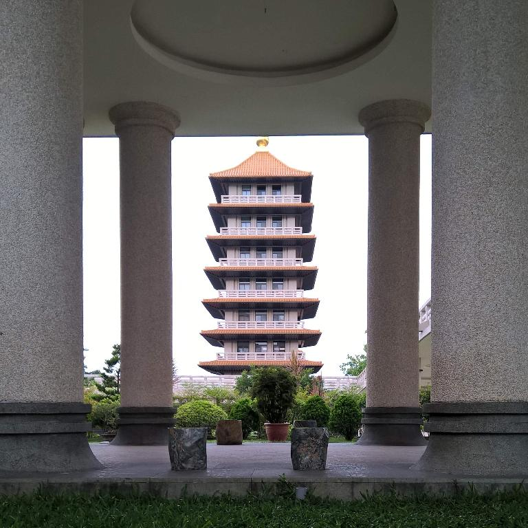 Pagoda at the Buddha Memorial Center in Taiwan.