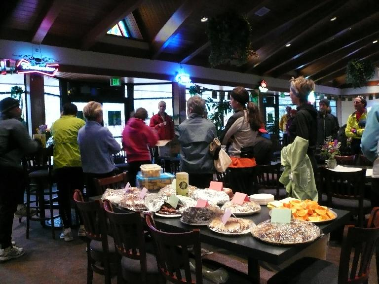 The spread of food, courtesy of the Fort Collins Running Club.