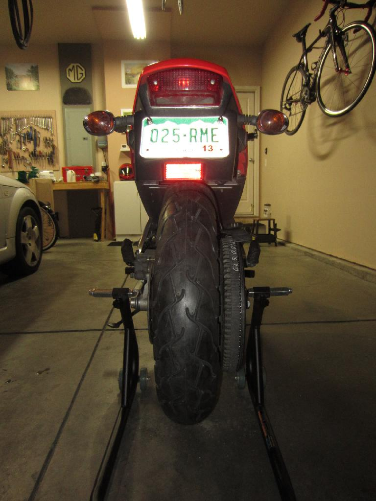 The Pirelli ST66 installed on the rear. (July 14, 2012)