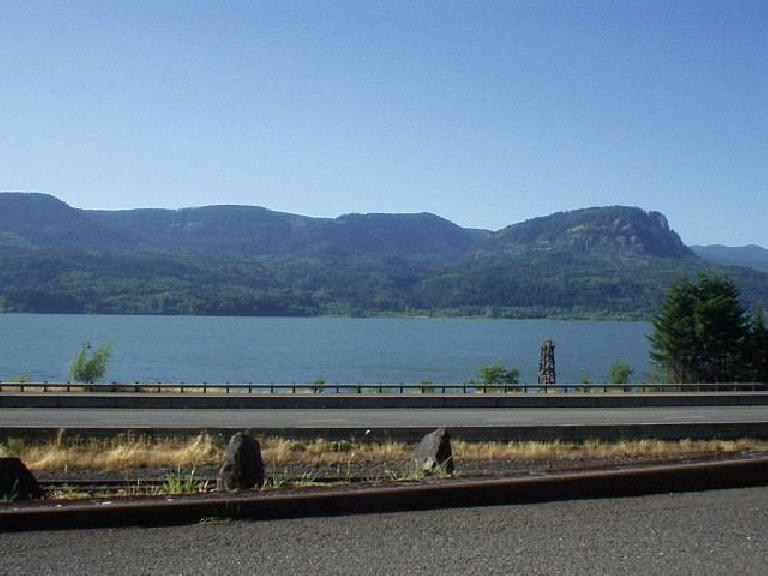 [East of Portland, OR] The drive along I-84 by the Columbia Gorge River was gorgeous! (June 26, 2003)