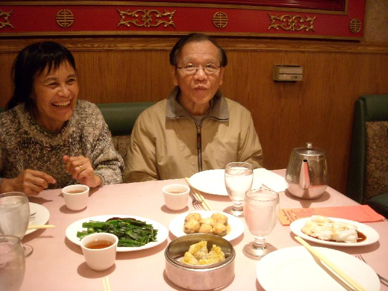 Having dim sum with my folks in Stockton.