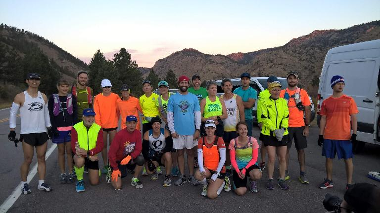 Runners in the 2016 Cache La Poudre Marathon.