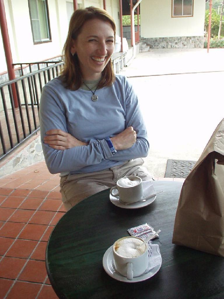 Tori, a coffee afficionado, was happy to get to try some Cafe Ru