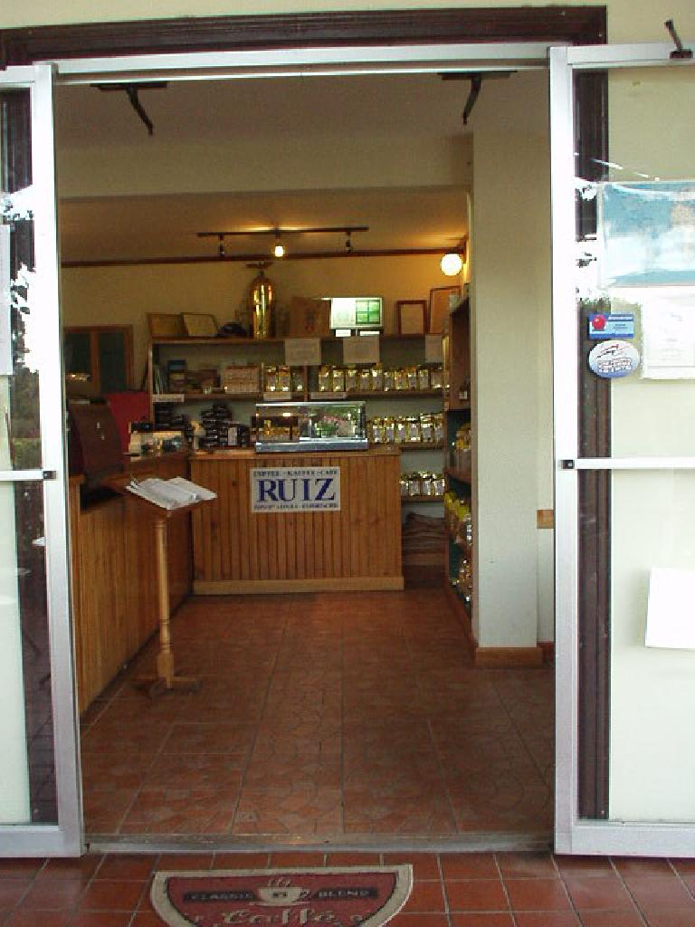 A Cafe Ruiz coffee shop.