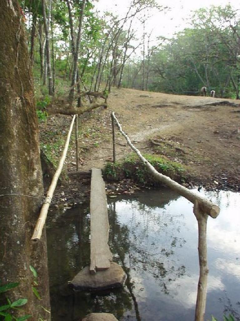 ... makeshift bridges...
