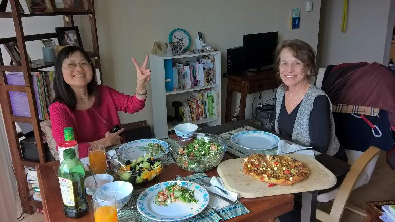 Stacey Collver, Laura Fairchild, lunch