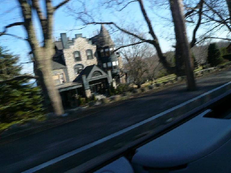 A home sort of shaped like a castle!