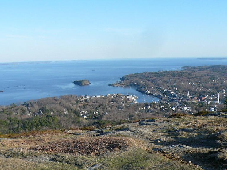 View of Camden from the top of Mt. Battie.