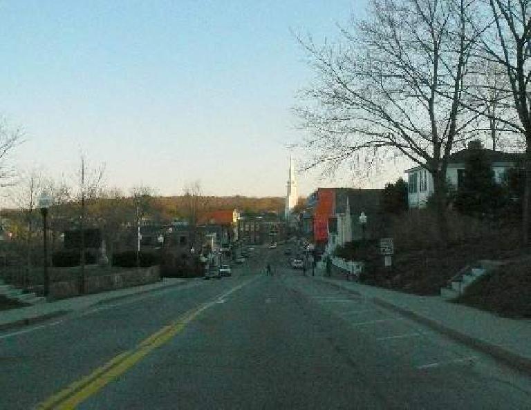 Heading back towards downtown from Mt. Battie.
