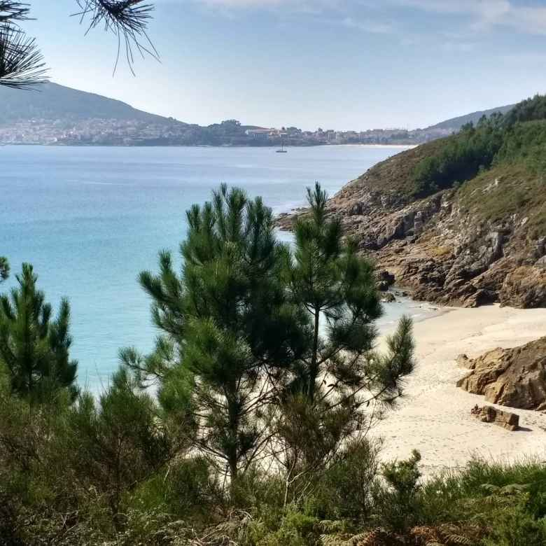 A beach a few miles from the official end of the Camiño de Fisterra.