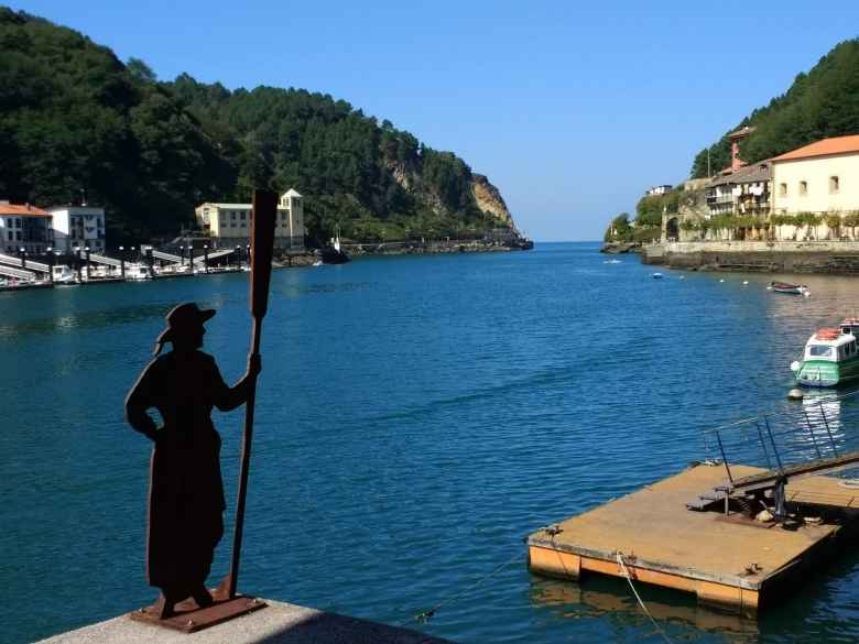 On Day 1, I had to take a ferry from Pasai Donibane to Pasaia to cross this narrow bay.