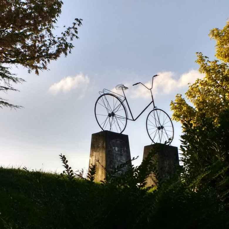 Bicycle art near Nocedal, Spain.