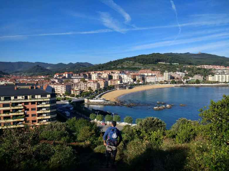 Following Jorge from Spain down to Castro Urdiales.