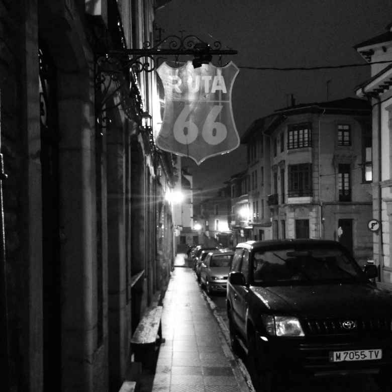 Restaurant Ruta 66 in the early morning of Villaviciosa, Spain.