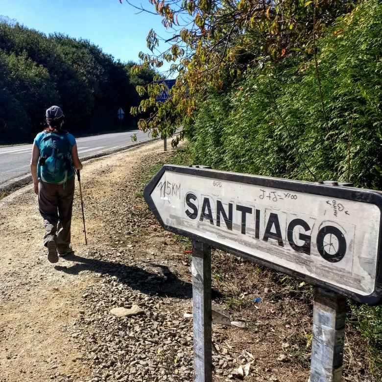 Tori and a sign to Santiago.