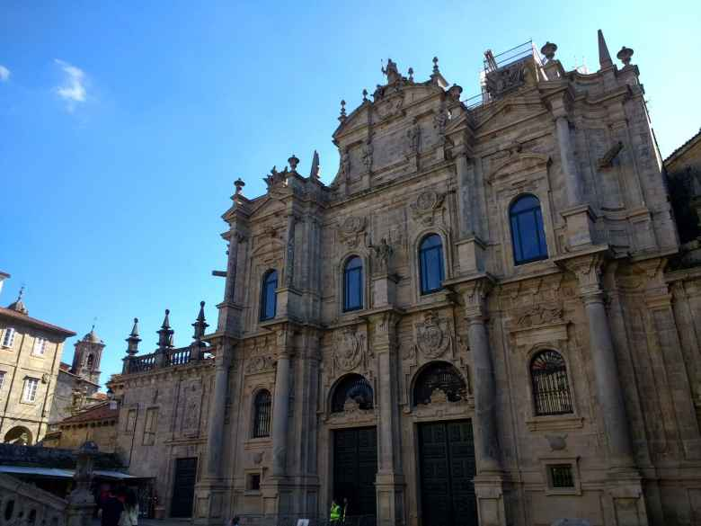 After 20.4 days of walking: made it to the Cathedral of Santiago de Compostela!
