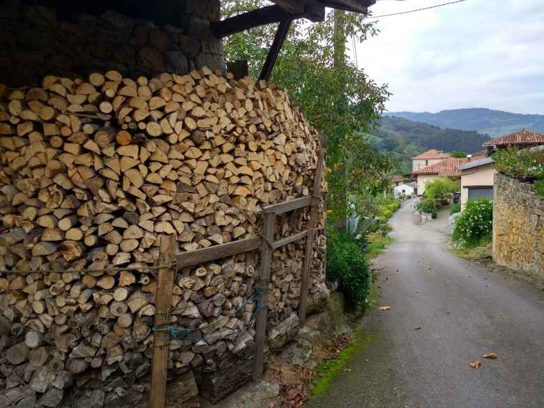 Lots of firewood in San Marcelo, Spain.