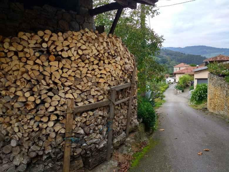 Lots of firewood in San Marcelo, Spain.