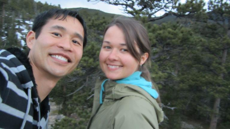 Me and Katia during our post-dinner walk.