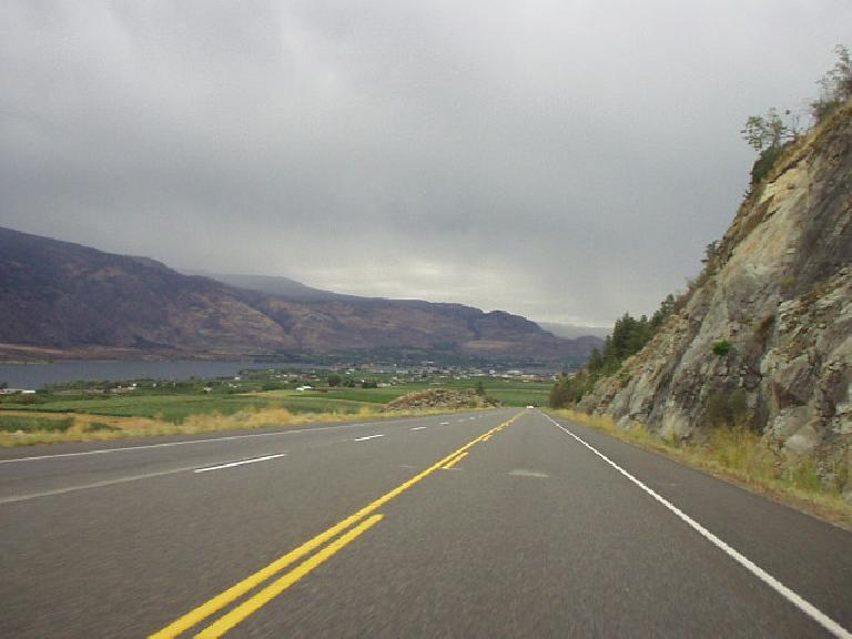 Getting very close to Penticton, where Ironman Canada had just taken place the day before.