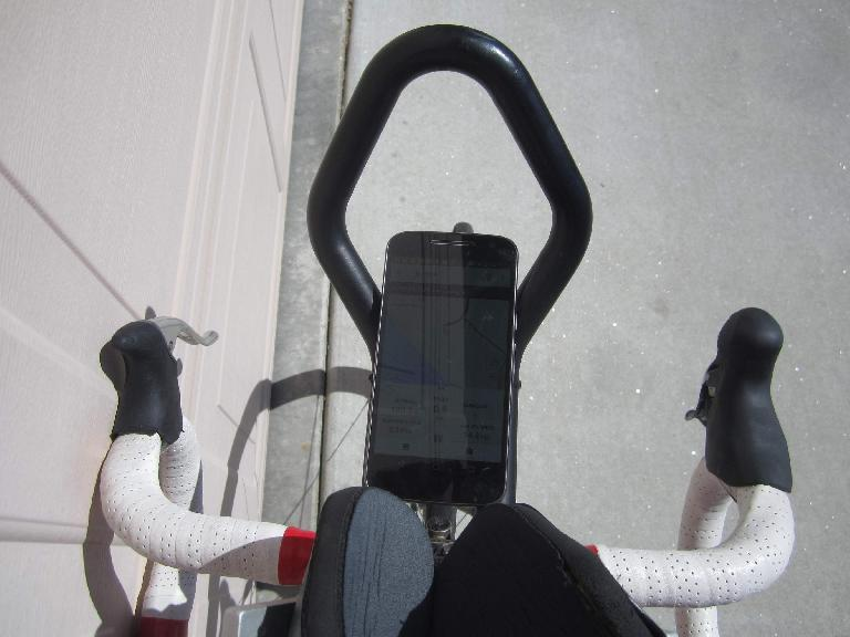 The view from the cockpit of my Cannondale 3.0, now equipped with a Shimano 105 5700 right 10-speed shifter.