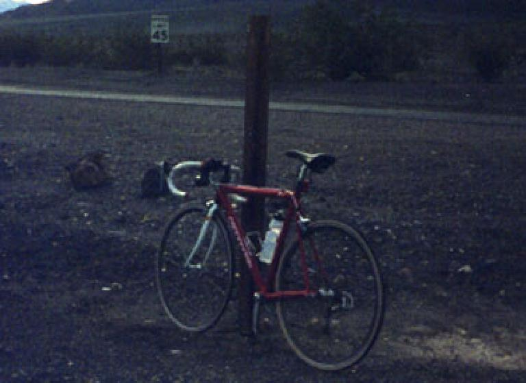 My Cannondale in Death Valley.
