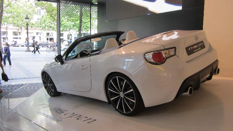 The Toyota GT86 open concept.
