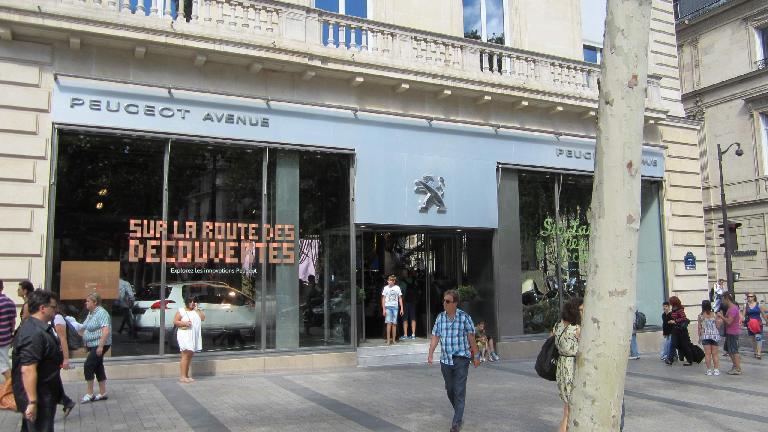 The Peugeot showroom off the Champs-Elys?es.