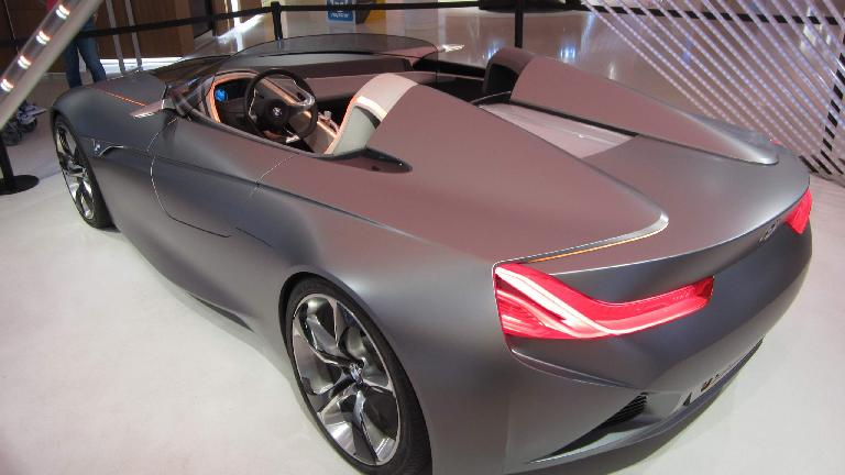 Rear view of the BMW concept car.