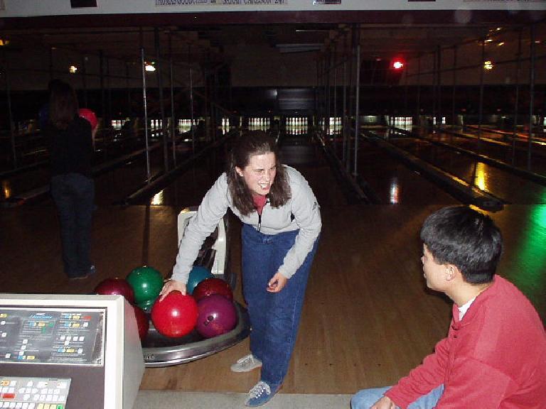 Suzie giving bf Loren a cute look.