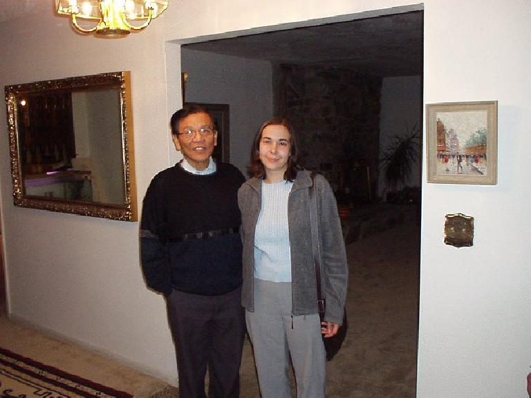 That's my dad with Carolyn. (November 11, 2002)