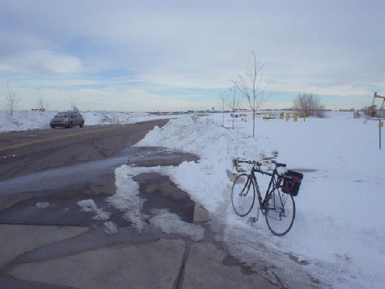 Bring out the bike to the plowed sections!