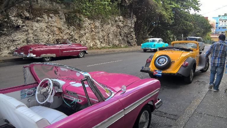 Vintage convertibles in Havana, Cuba.