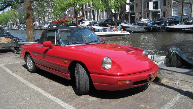 An Alfa Romeo Spider in Amsterdam.