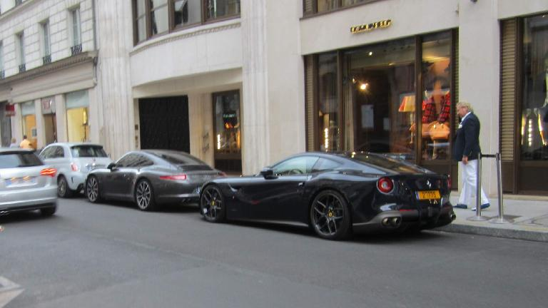 A Ferrari F12 Berlinetta in Paris.