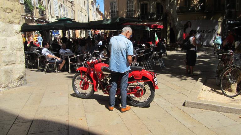 Moto Guzzi in Aix-en-Provence.