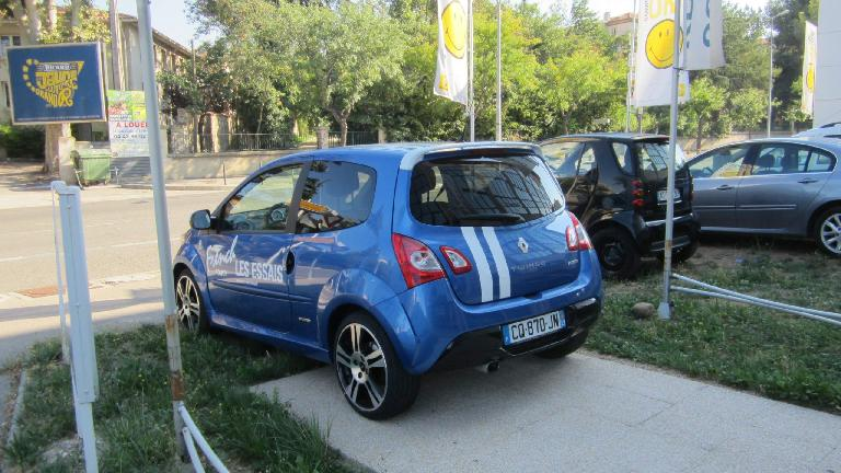 A Renault Twingo at a dealership in Aix-en-Provence.