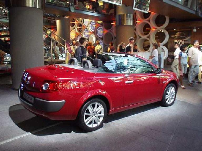 Renault's Megane II Cabriolet was very attractive.  Renault uses the Megane name on an extremely broad range of models! (August 24, 2003)