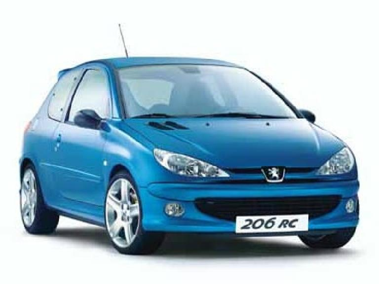 Prettiest Hatchback Award goes to Peugeot's line of 106, 206, and 307 vehicles.  This is a 206 RC.  (From the peugeot.com website.) (August 24, 2003)